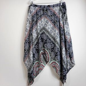 Scarf End HeartSoul Skirt 2X Lined NEW Festival